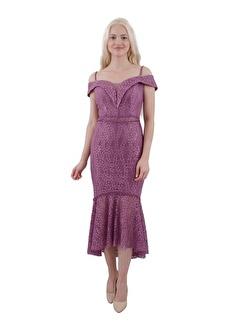 Belamore  Gül Ip Askılı Dantelli Kayık Yaka Abiye & Mezuniyet Elbisesi 1301460-10.25